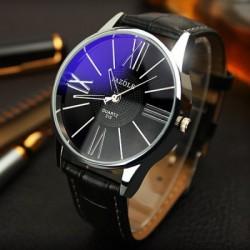 Yazole 315 Men Quartz Watch Leather Strap Wristwatch