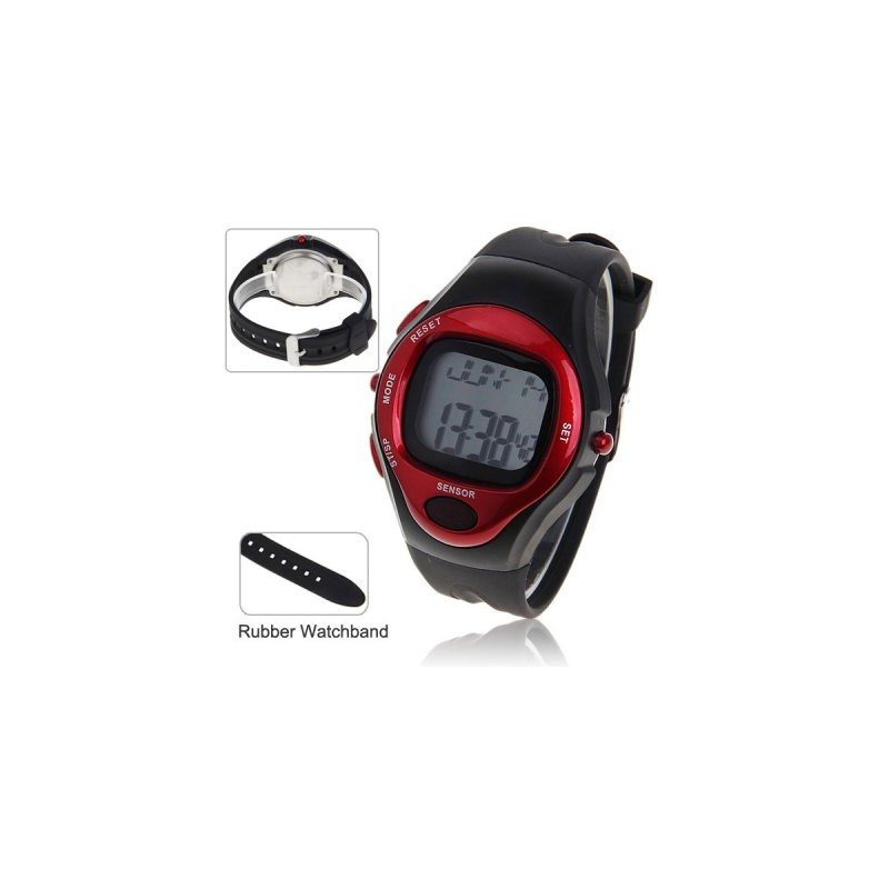 Pulse Heart Rate Counter Calories Monitor Waterproof Sport ...