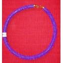 Circular Purple Beaded Necklace