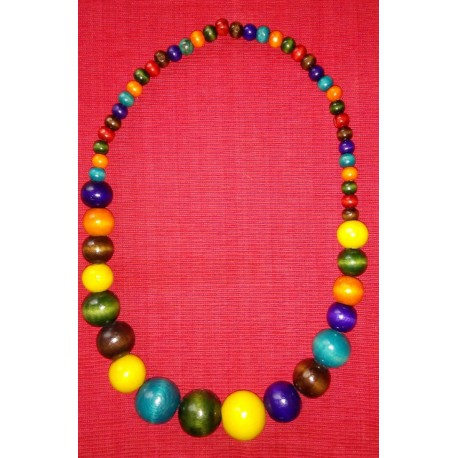 Circular Multicoloured Beaded Necklace