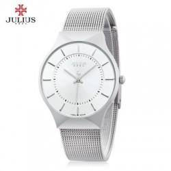 Julius JA - 577 Quartz Wrist Watch for Men Ultrathin Dial Stainless Steel Strap