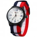 Curren 8195 Male Quartz Watch Date Display Canvas Strap Wristwatch