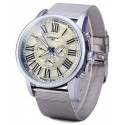 LaoGeShi Men Mechanical Watch Roman Numbers Hour Marks with Round Dial Rubber/Metal Watch Band