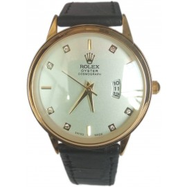 Rolex Oyster Cosmograph Womens Leather Wrist Watch with Date Function