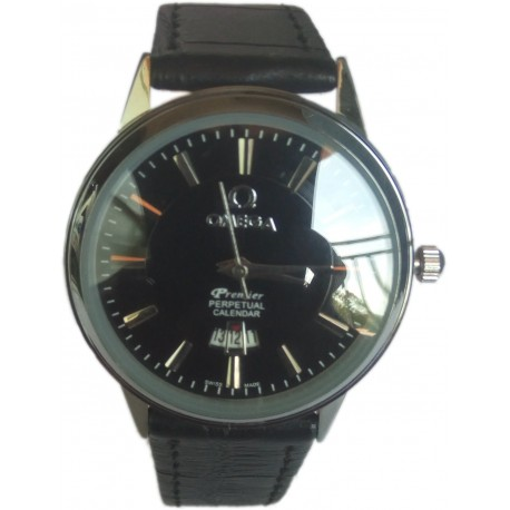 Omega Ladies Leather Wrist Watch with Date Function