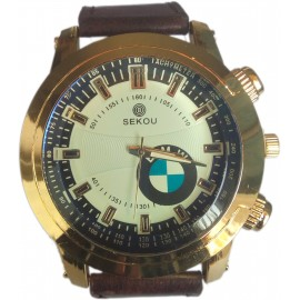 SEKOU BMW Men's Leather Wrist Watch