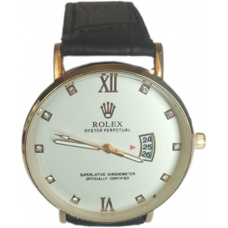 Men's Quartz Leather Watch with Date Function