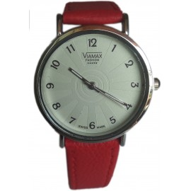 Viamax fashion Ladies Leather Wrist Watch - Numbered