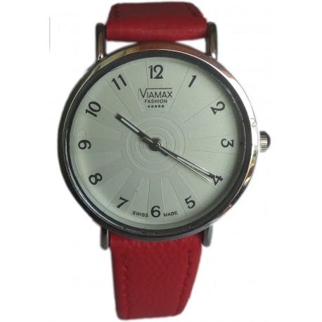 Viamax fashion Ladies Leather Wrist Watch - Numbered