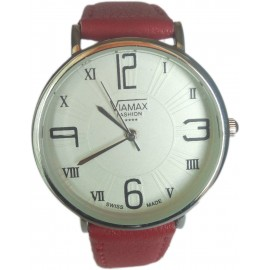 Viamax fashion Ladies Leather Wrist Watch with Roman Numbers