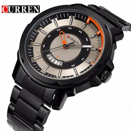 CURREN 8229 Business Fan-shaped Date Window Display Quartz Watch for Men