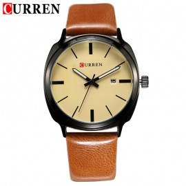 CURREN 8212 Men's Quartz Watch, Rounded Square with Date Function