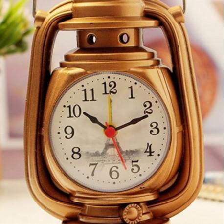 Vintage Oil Lamp Alarm Clock