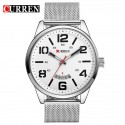 CURREN 8236 Fashion Male Quartz Watch with Steel Net Strap