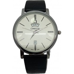 Omega Men's Leather Watch