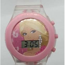 Princess transparent girly digital wrist watch