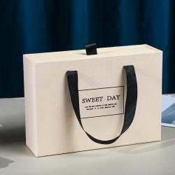 Rectangular Beige Drawer Gift box + Bag