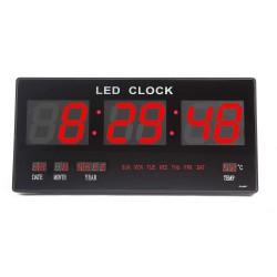 Large Nixie Tube LED Display Digital Calendar Wall Clock