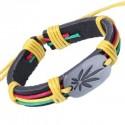 Mapel Leaf Pattern Pendant Embellished Bracelet