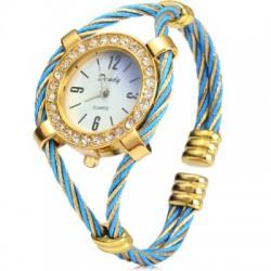 Dandy 221 Diamond Quartz Watch Bracelet Steel Wire Band for Women
